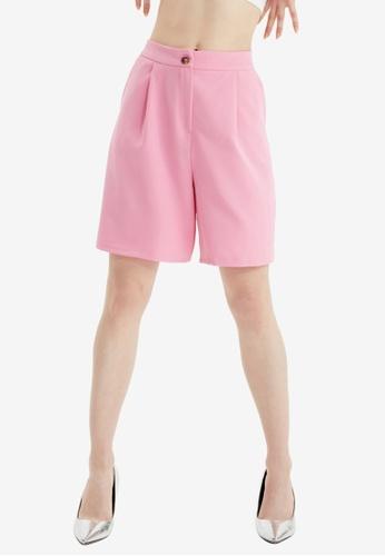 Trendyol pink Pink Bermuda Shorts 11EE8AAE0DE573GS_1