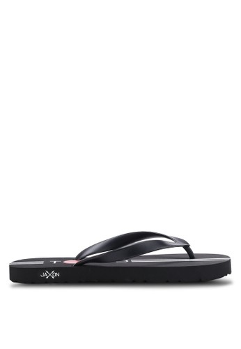 JAXON black Tokyo Flip Flops C01F4SH9C9A6EFGS_1