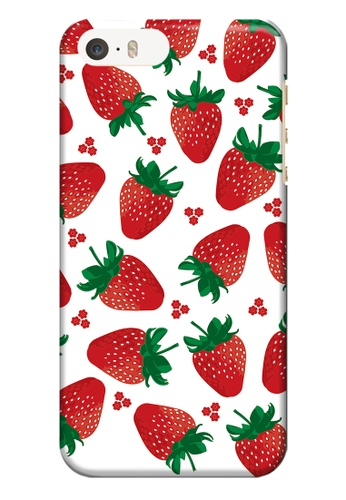 Wonder Cover red and green and multi Strawberries Hard Case for iPhone 5 / 5s / SE WO617AC50URTPH_1