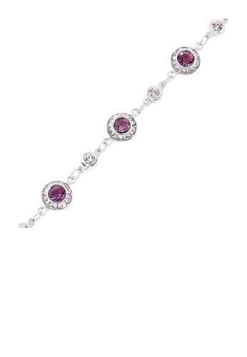 Glamorousky purple Trendy Bracelet with Purple Austrian Element Crystals 0C5F4AC6CA1109GS_1