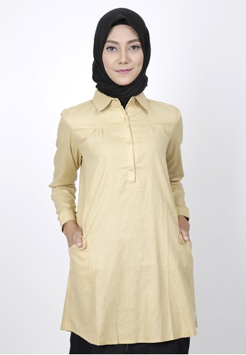M Tunic Fedora Yellow