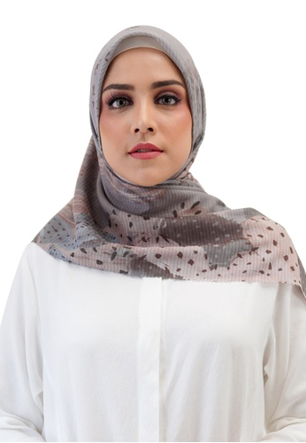 Buttonscarves grey Buttonscarves Opuntia Voile Square Mint DD97DAA9DDADBCGS_1