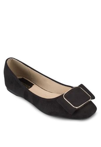 方形蝴蝶結麂皮平esprit 工作底鞋, 女鞋, 芭蕾平底鞋