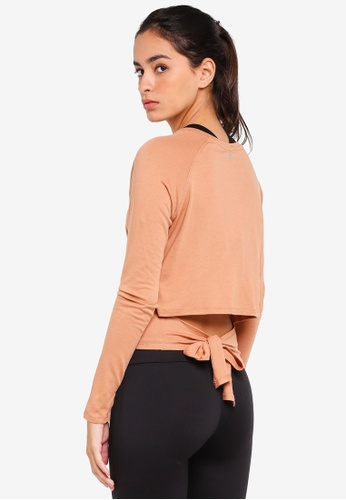 Cotton On Body multi Knotted Hem Long Sleeve Top 7C703AAC98707AGS_1