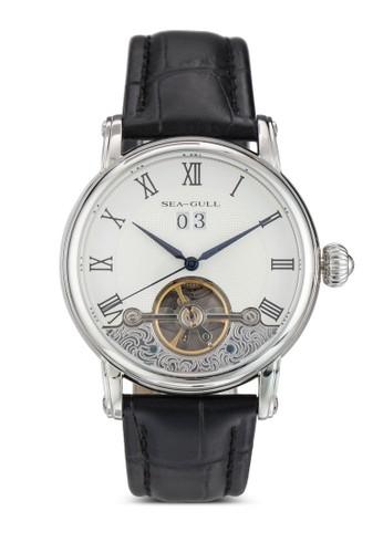 819.382 ST2575 40.5mm 機械圓框真皮esprit官網手錶, 錶類, 飾品配件