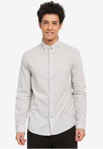 Buy only sons tailor melange napp shirt online zalora for Tailored fit shirts meaning