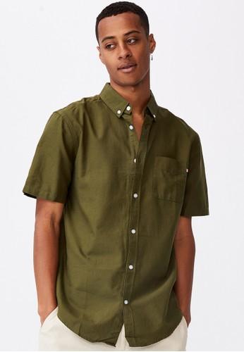 Cotton On green Vintage Prep Short Sleeve Shirt 48D18AAB854C2AGS_1