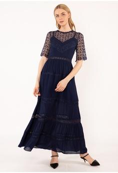 567084b6b41 BEBEBUTTERFLY blue Bebebutterfly Lace Dinner Dress A1548AA3540925GS 1