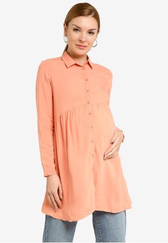 LC WAIKIKI orange Maternity Plain Viscose Tunic Shirt BC923AA7178BCBGS_1
