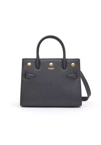 Burberry black Burberry Mini Leather Two-Handle Shoulder Bag in Black 07450ACACEBFC3GS_1