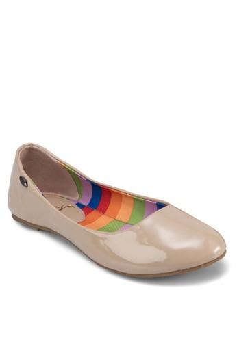 經典漆面圓頭平底鞋, zalora taiwan 時尚購物網女鞋, 芭蕾平底鞋