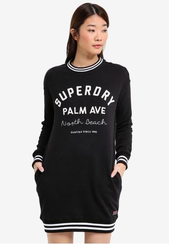 Superdry black Graphic Sweatshirt Dress 36D65AA8B1305EGS_1