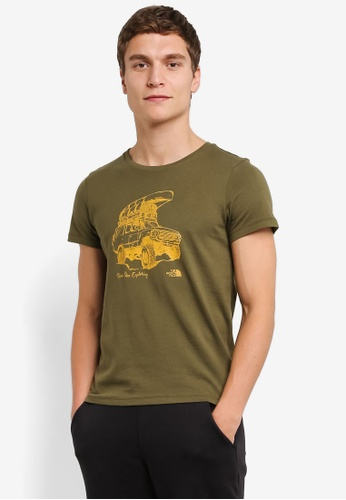 The North Face green TNF M D3 S/S LIFE TEE - AP THORN GREEN TH879AA0FMC1SG_1