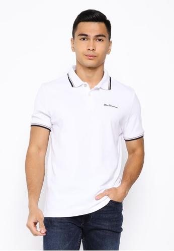 Ben Sherman white Signature Polo Shirt BA000AA1939CCBGS_1