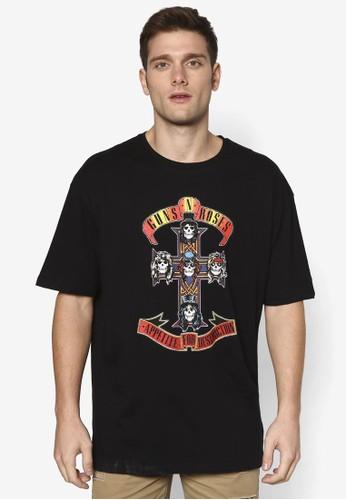 Guns n Roses 寬版設計TEE, 服esprit高雄門市飾, T恤