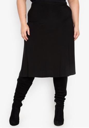 Curvy black Plus Size Skirt CU774AA15NFSPH_1