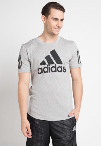 adidas multi and grey adidas m sid logo tee AA622AABFECF0CGS_1