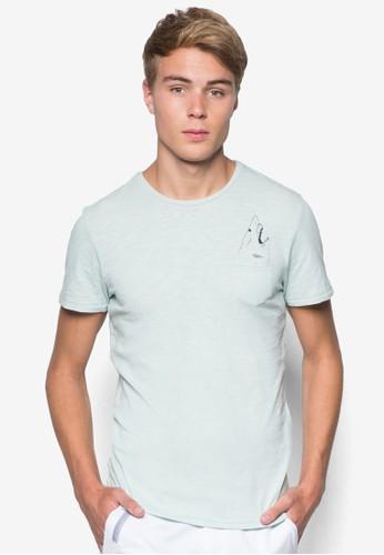 Cyril 鯊魚圖案口袋esprit home 台灣TEE, 服飾, T恤