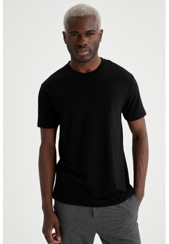 DeFacto black Short Sleeve Round Neck T-Shirt 09555AA4CC69AEGS_1