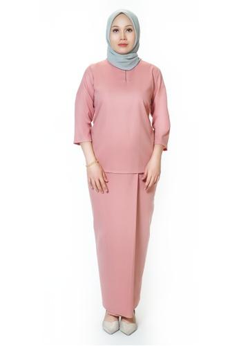House Of Olsha pink Signature Kamelia Kurung Kedah - Bunga 6ACE1AA1D5EB0CGS_1