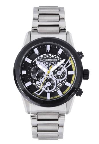 Crocodile Timepiece silver Jam Tangan Pria Analog Sports Chrono Strap Metal  CM-019B11B 88AFFAC1416426GS_1