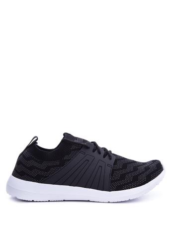World Balance black WEAVE FLEX Sneakers WO444SH70LLPPH_1