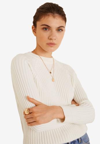 Mango beige Ribbed Knit Sweater A0FD5AAEBB018EGS_1