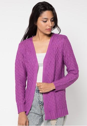 VOYANT BY MEGUMI purple Cardigan Ringgo Bee Nest Motiv VO505AA52YKXID_1