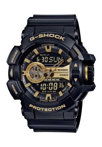 Casio black Casio G-SHOCK Jam Tangan Pria - Black Gold - Silicon - GA-400GB-1A9DR CA347AC0VK9ZID_1