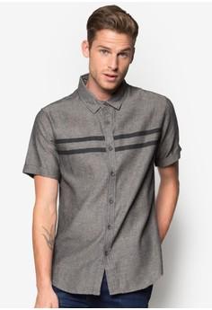 Printed Stripes Short Sleeve Shirt
