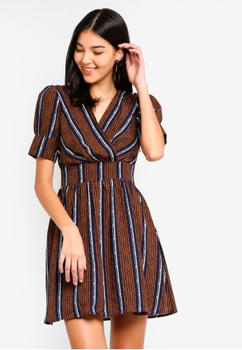 ZALORA multi Fit And Flare Short Sleeves Dress FFE67AA45A9F3BGS_1