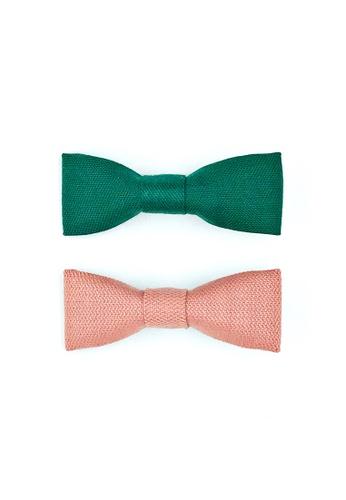 A l i t t l e b o w pink and green Mini Bow Hair-clip Set 0FED5KC3A77F1FGS_1