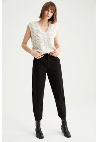 DeFacto black Woman Woven Trouser 5D5C1AA7A452D7GS_1