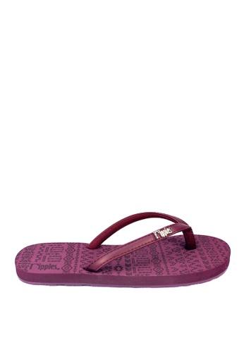 Ripples purple Arika Aztec Flip Flops 9F1D0SH0FDEAFEGS_1