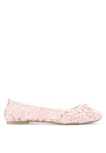 Rubi 藍色 網眼蕾絲平底鞋 0E710SHC2C5332GS_1