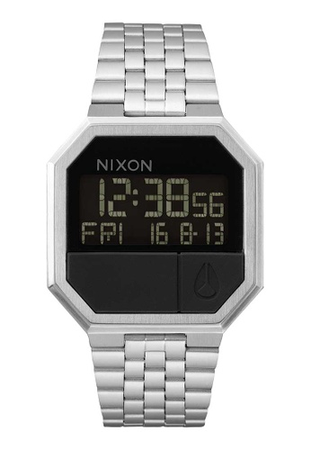 Nixon silver Re Run 38mm - Black (A158000) NI919AC0W5R1ID_1