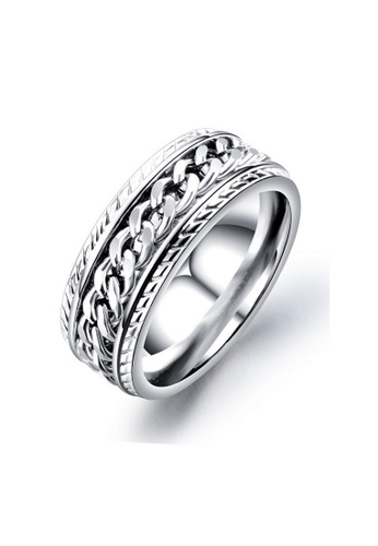 ADORA silver Stainless Steel Ring 37B48AC5A9FEC6GS_1