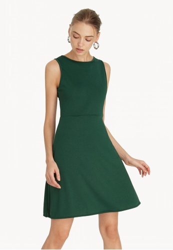 fd66f8419e09 Buy Pomelo Mini Flared Skater Dress - Green Online on ZALORA Singapore