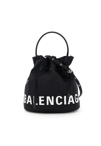 Balenciaga black Balenciaga Wheel S Bucket Bag in Black 8A733ACF21C580GS_1