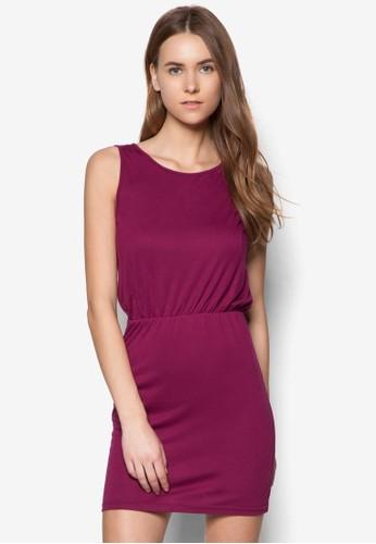 基本款挖背zalora開箱無袖連身裙, 服飾, 洋裝