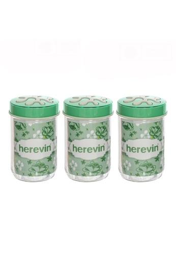 Herevin Herevin 3 Pcs 660ML Canister Set / Storage Container Set / Jar Set / Balang Kaca - Light Green / Light Pink / Light Purple 8C546HL086C5EAGS_1