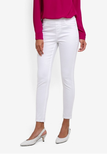 Dorothy Perkins white White Eden Ankle Grazer Jeggings DO816AA0SB7KMY_1