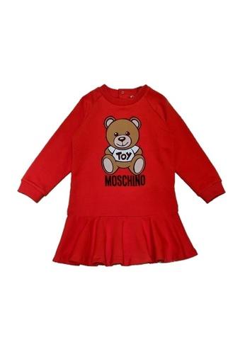 MOSCHINO BABY KID TEEN red MOSCHINO BABY GIRLS DRESS 7680EKABF664EAGS_1