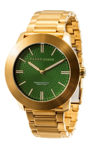 PERRY ELLIS gold Perry Ellis Slim Line Men Gold IP 46mm Quartz Stainless Steel Watch 03011-02 AA803ACEB645D6GS_1