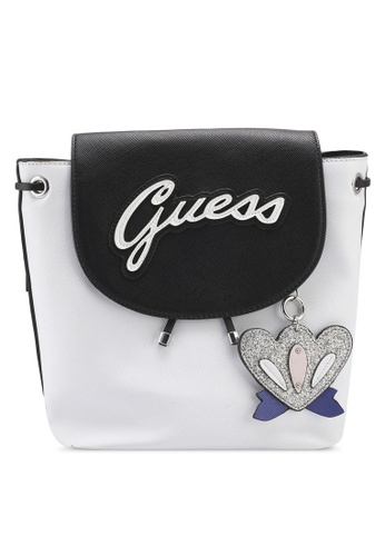 Guess white Varsity Pop Pin Up Backpack 4C905AC5156891GS_1
