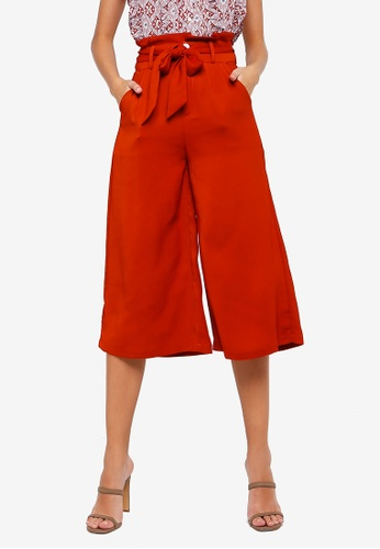 ZALORA orange Paperbag Culotes 9EC71AA2914286GS_1