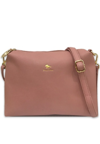 Polo Hill pink Polo Hill Sling Bag Pink B051AAC06196EEGS_1