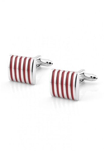 Kings Collection red Stripe Men Cufflinks 47276ACE6AC7DFGS_1