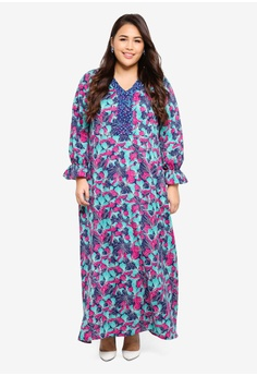 d7fc22fb0f74 42% OFF Ms. Read Printed Long Dress S$ 118.90 NOW S$ 68.90 Sizes 14 16 18  20 22 · Only CARMAKOMA orange Plus Size Savannah Wrap Dress  2D1A5AACBAA04CGS_1