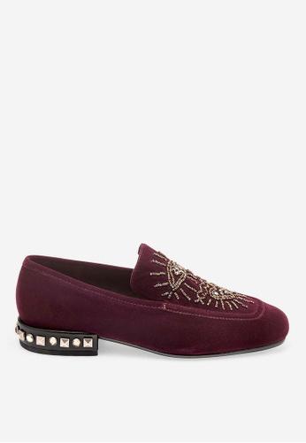 ASH purple Eyes - Purple Rivets embroidery Loafer Flats 97527SHFA4A380GS_1